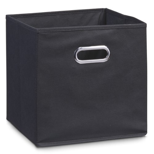 Zeller 14133 Aufbewahrungsbox, Vlies, ca. 28 x 28 x 28 cm, schwarz