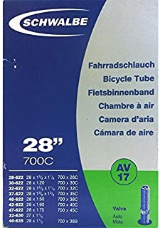 SCHWALBE AV17 Bicycle Inner Tube with Schrader Valve ~~28 inch 37622 MM (28 x 1 3/8 x 1 5/8 inches) (28 x 1.4 inches) by S...