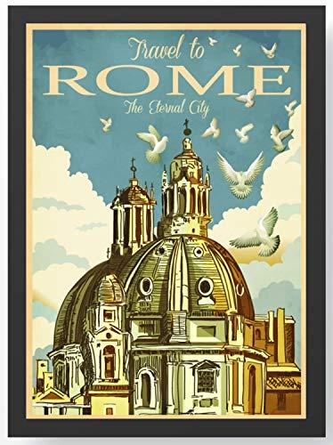 Retro Vintage Rom Kathedrale Kunstdruck Poster -ungerahmt- Bild DIN A4 A3 K0120 Größe A4