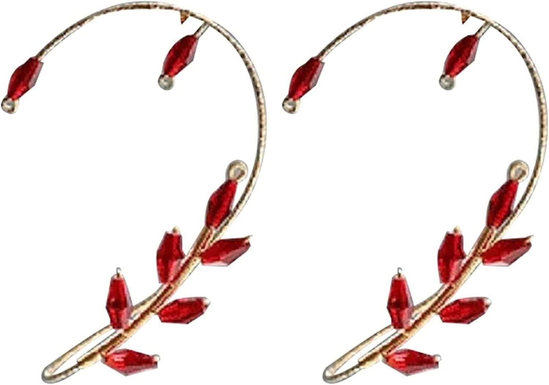 Vintage Ear Cuff Earrings,Ear Wrap Crawler Hook Earrings Wire Wrapping Beaded,Elegant Pearl Wrap Crawler Hook Earring Non Piercing Jewelry,Fashion (B)