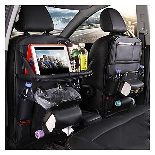 Organizer per sedile posteriore per auto, organizer per auto con tavolino pieghevole, organizer per auto in pelle PU con 9 tasche, accessori per auto da viaggio a guida autonoma per famiglie-1 pezzo