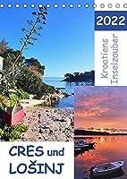 Kroatiens Inselzauber, Cres und Losinj (Tischkalender 2022 DIN A5 hoch): Zwei Inseln in der Kwarner Bucht (Monatskalender, 14 Seiten )