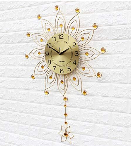 Horloge À Quartz À La Mode Horloge Murale Salon Originalité Contemporain Contracté Mur Montre Europe Type Est Silencieux Chambre Horloge Parure (Couleur : Or)