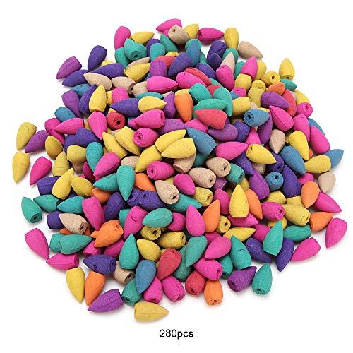 Jinxuny 280 conos aromáticos de incienso aromático, aroma natural, aroma a sándalo, especias de...