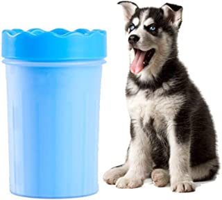 PetExperct Dog Paw Cleaner Plunger Portable Feet Washer Cup Brush for Dogs Cat