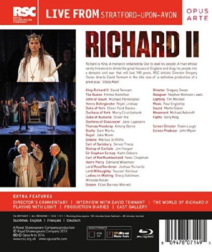 Shakespeare: Richard II [David Tennant] [RSC] [Blu-ray] [2014] [Region Free]