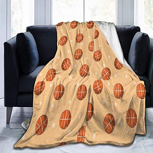 USDFYU Manta De Sofá Cama Súper Suave Y Cómoda para Todas Las Estaciones Baloncesto Balones Deportivos Manta Manta Adecuada para Niños Y Adultos Que Viajan En La Oficina para Acampar 60'X50