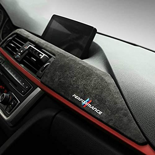 Alcantara Auto Cruscotto Pannello ABS Copertura Trim Decorazione interni auto Per BMW F30 F31 F32 F34 F36 3GT 3 4 Serie Accessori (9002 Dark Grey)