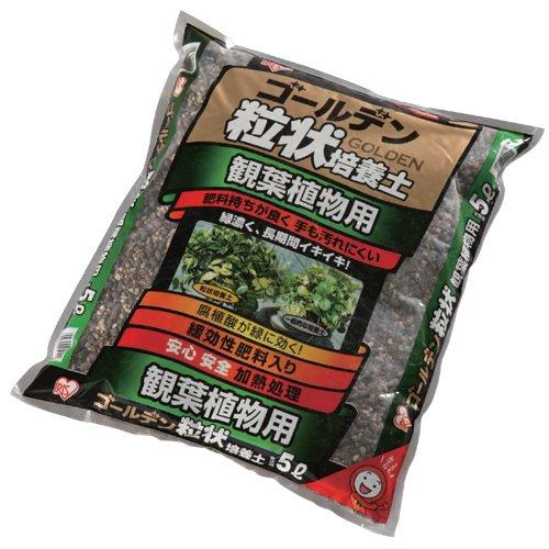 ゴールデン粒状培養土 観葉植物用 5L(アイリスオーヤマ)