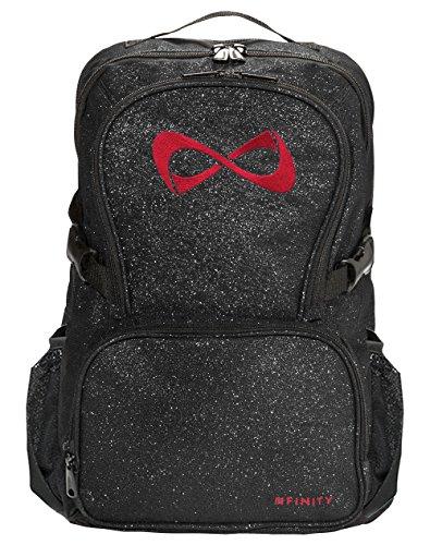 Nfinity Black Sparkle Backpack (Black/Red)