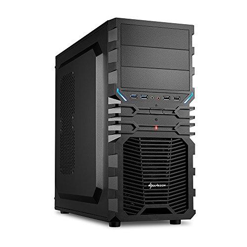 Sharkoon VG4-V PC-Gehäuse (2x USB 3.0, 2x USB 2.0, ATX) schwarz