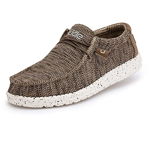 Hey Dude Men's Wally Sox Brown, Size 10