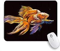 VAMIX マウスパッド 個性的 おしゃれ 柔軟 かわいい ゴム製裏面 ゲーミングマウスパッド PC ノートパソコン オフィス用 デスクマット 滑り止め 耐久性が良い おもしろいパターン (金魚美しいオリジナルパステル画ネイチャータンク水中鮮やか)