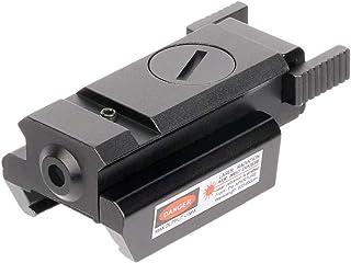 HELEVIA Mini mira láser de Punto Rojo, Potente tejedor táctico Conjunto de Montaje Picatinny para Rifle de Pistola Tiro de Golpe Airsoft Visor de Caza Pistola de Aire Manual Mira láser