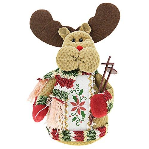 Jouet Noël en Peluches Bonhomme de Neige Poupée Doudou Père Noël Toys Dolls Accessoire Créatif Ornement Maison