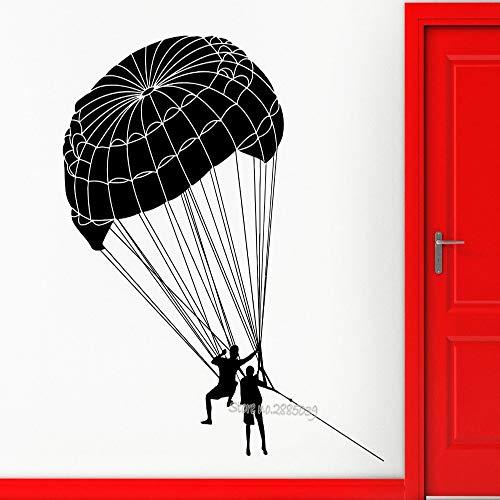 JXCDNB Fallschirmspringer Fallschirmspringen Wandaufkleber Vinyl Aufkleber Extremsporthalle Wohnzimmer Abnehmbare Tapete Hauptwanddekor Tattoo Kunst 56x63 cm