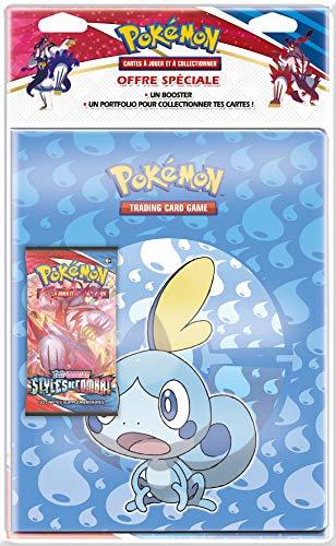 Pokémon Pack Portfolio + Booster (Modèle aléatoire) -Epée et Bouclier Styles de Combat (EB05) société-Jeu de Cartes à Collectionner, POB09EB05