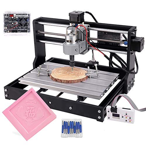 CNC 3018 Pro GRBL Control Macchina, 3 assi PCB fresatura Incisione Machine, Router legno incisione laser XYZ Area di lavoro 300 x 180 x 45 mm by Yofuly (3018 Pro con asta di estensione)