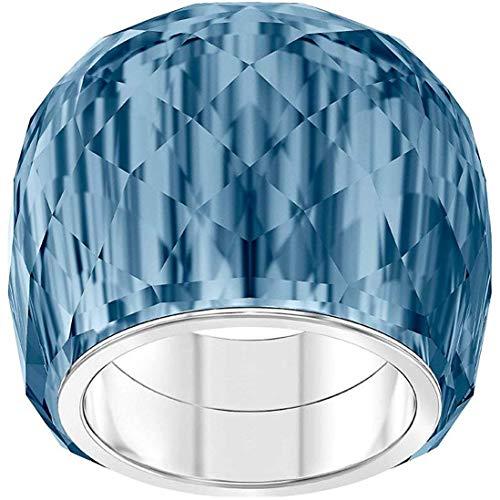 Swarovski Damen-Damenring NIRVANA Metall 58 Blau 32010504