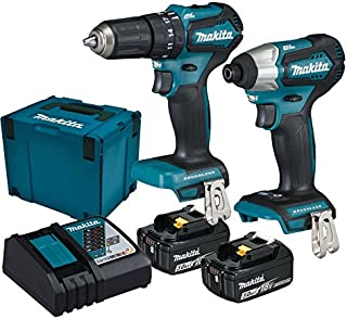 Makita DLX2221JX2 Cordless Impact Wrench 2 Battery Charger 18V, DLX2221JX2