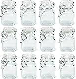 Juego frascos especias, 24pc Mini Glass Mason Jar Centerpiece Party Favor Favor Vela Making Alimentación Lot de Almacenamiento ORGANIZA DE COCINA DE COCINA DE COCINA DE COCINA DE ALMACENAMIENTO CONTEN