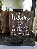 Har3646vey Airbnb Señal de Bienvenida para casa de Vacaciones, Alquiler de casa, rústico airbnb, decoración de airbnb