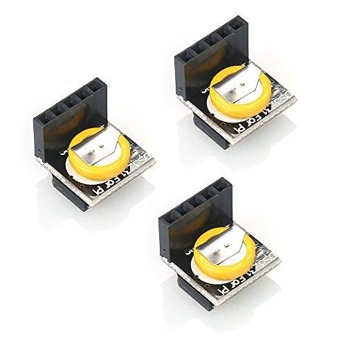 3 Stück Mini High Precision 3,3 V / 5 V Echtzeituhr-Modul Speichermodul Kompatibel mit Arduino Raspberry Pi