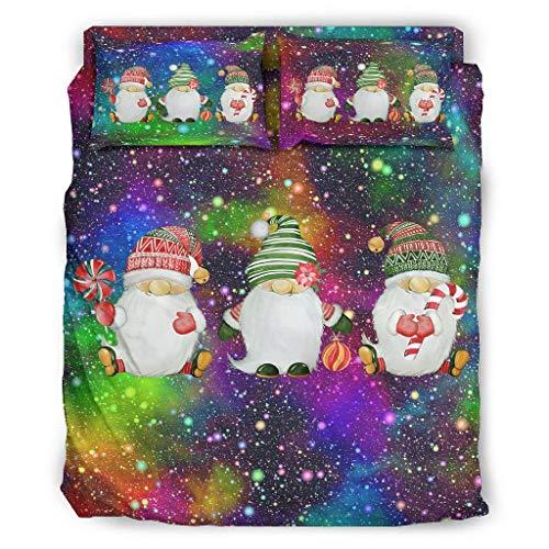 YOUYO Spark Juego de cama verde gnomo de Navidad hermoso hermoso - forros de la camaSan Valentín blanco 203x230cm