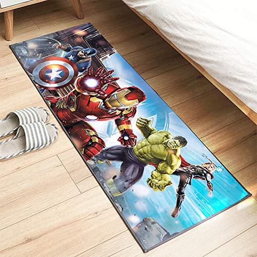 maishi Alfombras Alfombra De Piso Largo Corredor Dormitorio De Los Niños Baño Cocina Sala De Estar Jugar Pasillo De Cabecera Comedor Regalo Europeo Americano Iron Man Hulk
