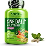 NATURELO One Daily Multivitamin for Women - Natural Energy Support - Whole Food Supplement to Nourish Hair, Skin, Nails - Non-GMO - No Soy - Gluten Free - 120 Capsules   4 Month Supply