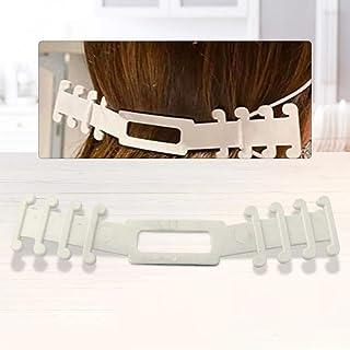 JMcall Earache Prevention Fixer Anti-slip Ear Hooks Extension Buckle Adjustable(Color:White & Material:1)