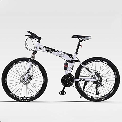 Buy TXTC Shock Speed Mountain Bike Bicycle Double Brake Folding Bike 24/26 Inch Wheel Dual Disc Brak...