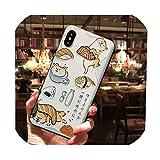 日本芝犬寿司電話ケースiphone 11プロマックスXSマックスXR 8 7 6プラスソフトTPUバックカバーOPPO R15 R17 Coque、iphone 11pro、2