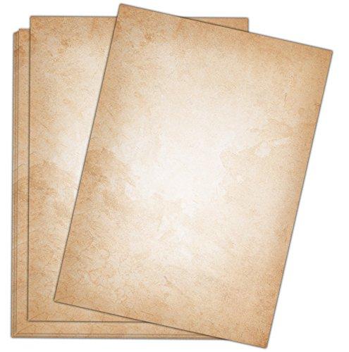 100 Blatt Vintage hell Briefpapier im DIN A4 Format - beidseitig bedruckt in qualitativem 120g Papier - von Sophies Kartenwelt
