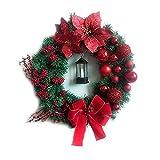 Daesar Coronas Navideñas para Puertas,50CM,Bolas de Navidad...