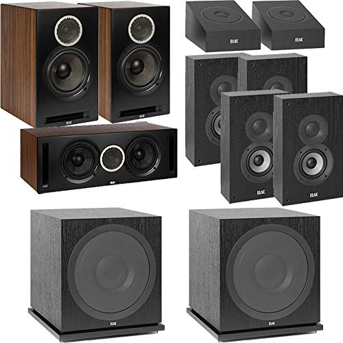 Lowest Prices! ELAC Dolby Atmos Reference DBR62 Bookshelf 9.2 Home Theater System with On-Wall Surro...