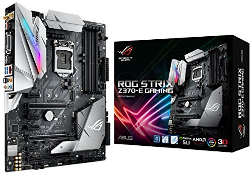 ASUS ROG Strix Z370-E Gaming LGA1151 DDR4 DP HDMI DVI M.2 Z370 ATX Motherboard with onboard...
