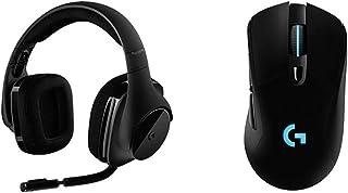 【セット買い】Logicool G ゲーミングヘッドセット ワイヤレス 無線 G533 Dolby 7.1ch ノイズキャンセリング 折り畳み式マイク 軽量 15時間バッテリー PS5 PS4 PC 国内正規品 & ゲーミングマウス 無線 G7...