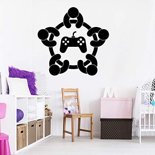 Sanzangtang Muurstickers voor speels, vinyl, decoratie voor de woonkamer, slaapkamer, decoratieve PVC-muurstickers
