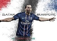 ズラタン イブラヒモビッチ ポスター 42x30cm 写真 Zlatan Ibrahimovic スウェーデン パリ サンジェルマン ミラン インテル バルセロナ サッカー フットボール