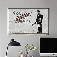 抽象的なキャンバスのポスターとプリント、リビングルームの家の装飾のための現代壁クアドロスグラフィティアート絵画、50X70Cm,Poster Art,Prints
