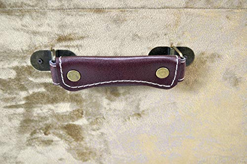 Livitat® Hocker Polsterhocker Suitcase Pouf Truhe Staufach Truhenbank Sitzbank Ottomane B90 x T40 x H47 cm LV2079 (Braun) - 6
