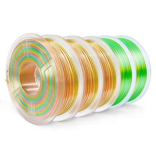 PLA-Filament 5kg PETG 5kg spla 5kg 1kg / Rolls Filament PLA 5kg 3D Drucker Filament Umweltschutz Nicht toxisch (Color : Silk Rainbow 5KG)