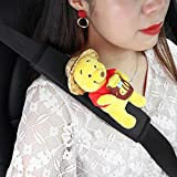 Universal Car Seat Belt Pad Cover, 2-Pack Comfort Harness Pads Seat Belt Covers Shoulder Strap Protector for Adults and Children for Car Toddler-Winnie the Pooh