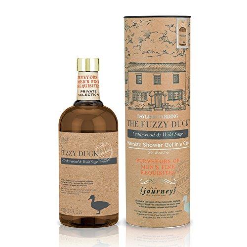 Baylis & Harding Fuzzy Duck –Juego de lata y gel de baño para hombre, aroma de madera de cedro y verbenaca