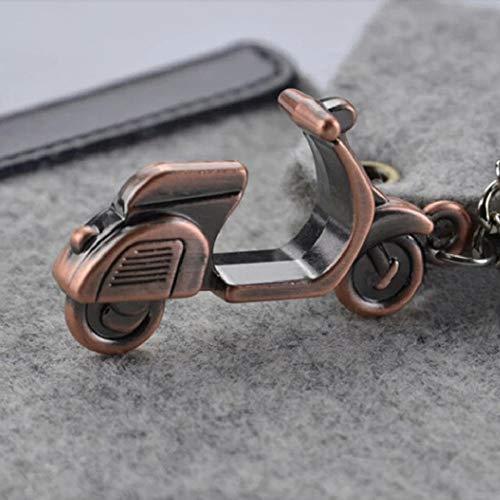 Llavero de metal con diseño de motocicleta Vespa