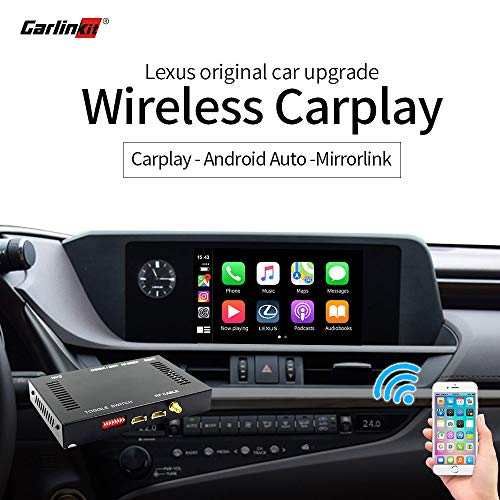 Carlinkit Wireless CarPlay y Android Auto para Lexus NX ES US es CT RX GS LS LX LC RC 2014-2019 Kit de actualización de Interfaz Multimedia