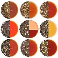 Idea Regalo - Chai tea sampler set tisane, 10 the assortiti, tè originale dell' India Masala chai miscele (50 tazze), 100% ingredienti naturali | Spediti direttamente dalla fonte in India | chai tè sfuso foglia