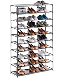 YOUDESURE 10 Tiers Shoe Rack, Stackable Shoe Organizer for 50 Pairs, Space...