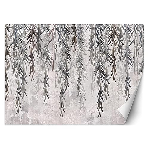 Feeby Papel Pintado Fondo De Niebla Textura 350x245 cm Gris Fotomurales Decoración De Pared Moderna Fotográfico Baño Cocina Dormitorio Oficina Follaje Colgante Hojas Naturaleza